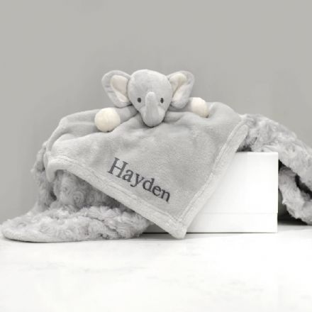 Personalised Elephant  Comforter and Blanket Gift Set